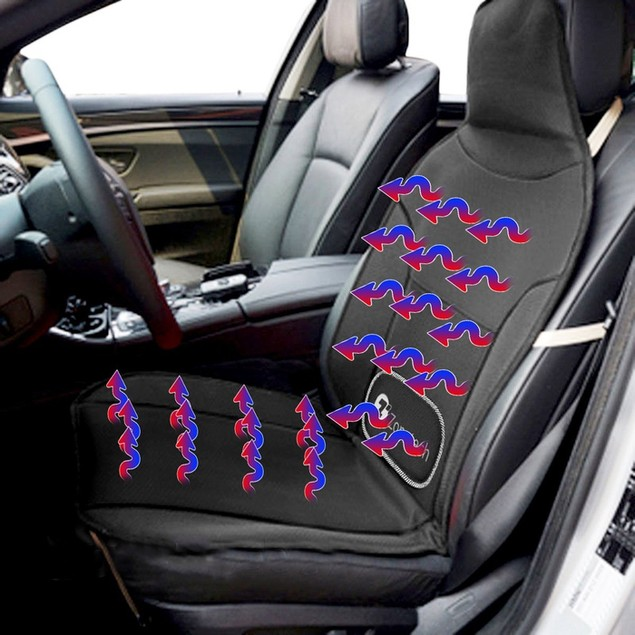 Zone Tech  Car Seat Cover Massaging/Cooling/Heating Cushion