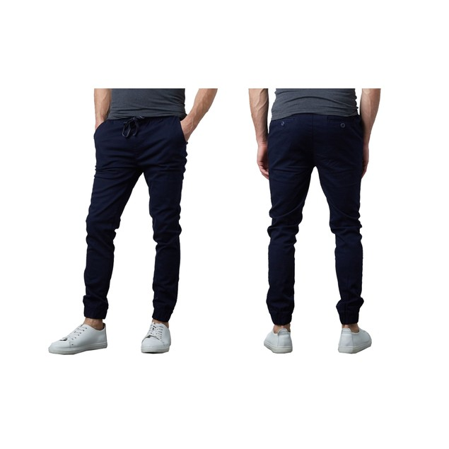 Men's Classic Cotton Twill Jogger Pants