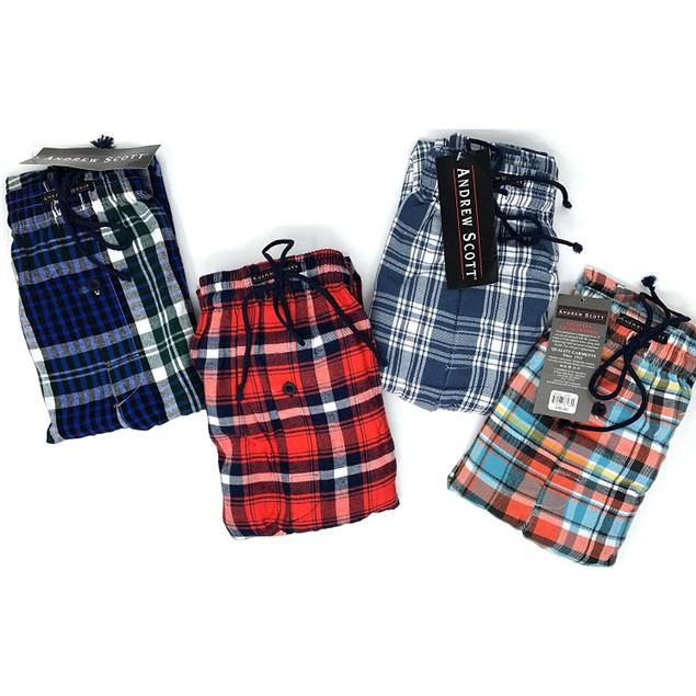 2-Pack Andrew Scott Men's Flannel Fleece Pajama Lounge