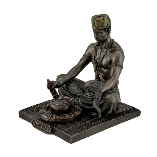 Bronzed Orunla God Of Divination And Destiny Statues