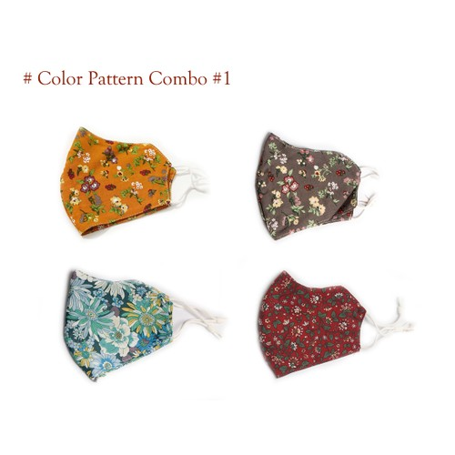 Multi-Layer 100% Cotton Reusable & Washable Face Mask(4 or 5-Pack)