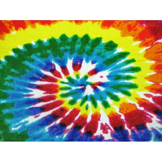 Hippie Tie-Dye Swirl Reactive Beach Towel 60 In. X Beach Towels