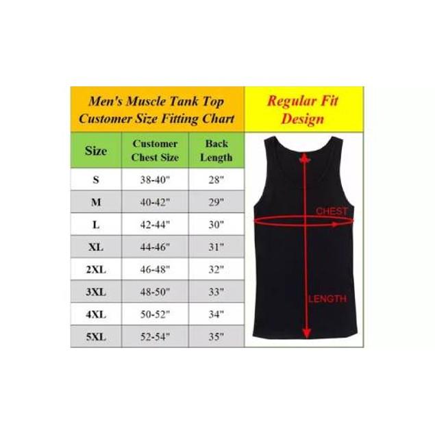 6-Pack Men's  Muscle Tank Tee