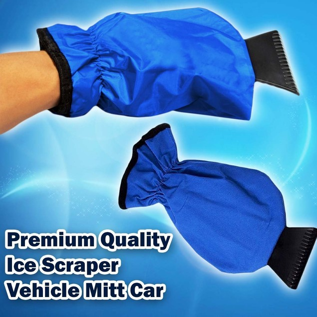 Zone Tech Waterproof Vehicle Ice Snow Scraper Mitt Glove Window Windshield