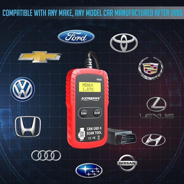 Kobra Newest Version OBD2 Scanner Car Code Reader - Universal Auto OBD Car Diagnostic Tools for All Cars