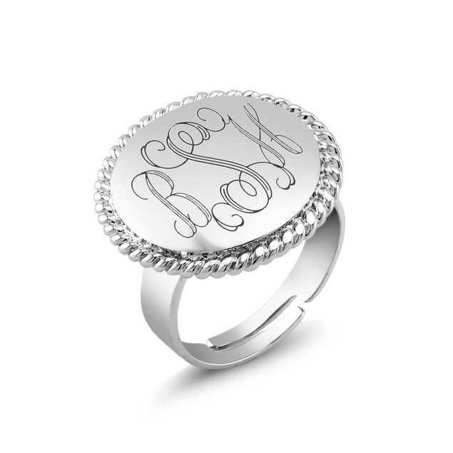 Personalized Braided Round Ring with Free Gift!