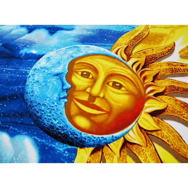 Celestial Sun Moon Beach Towel 60 Inches X 30 Beach Towels