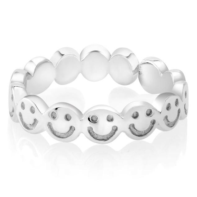 Sterling Silver Eternity Emoji Ring