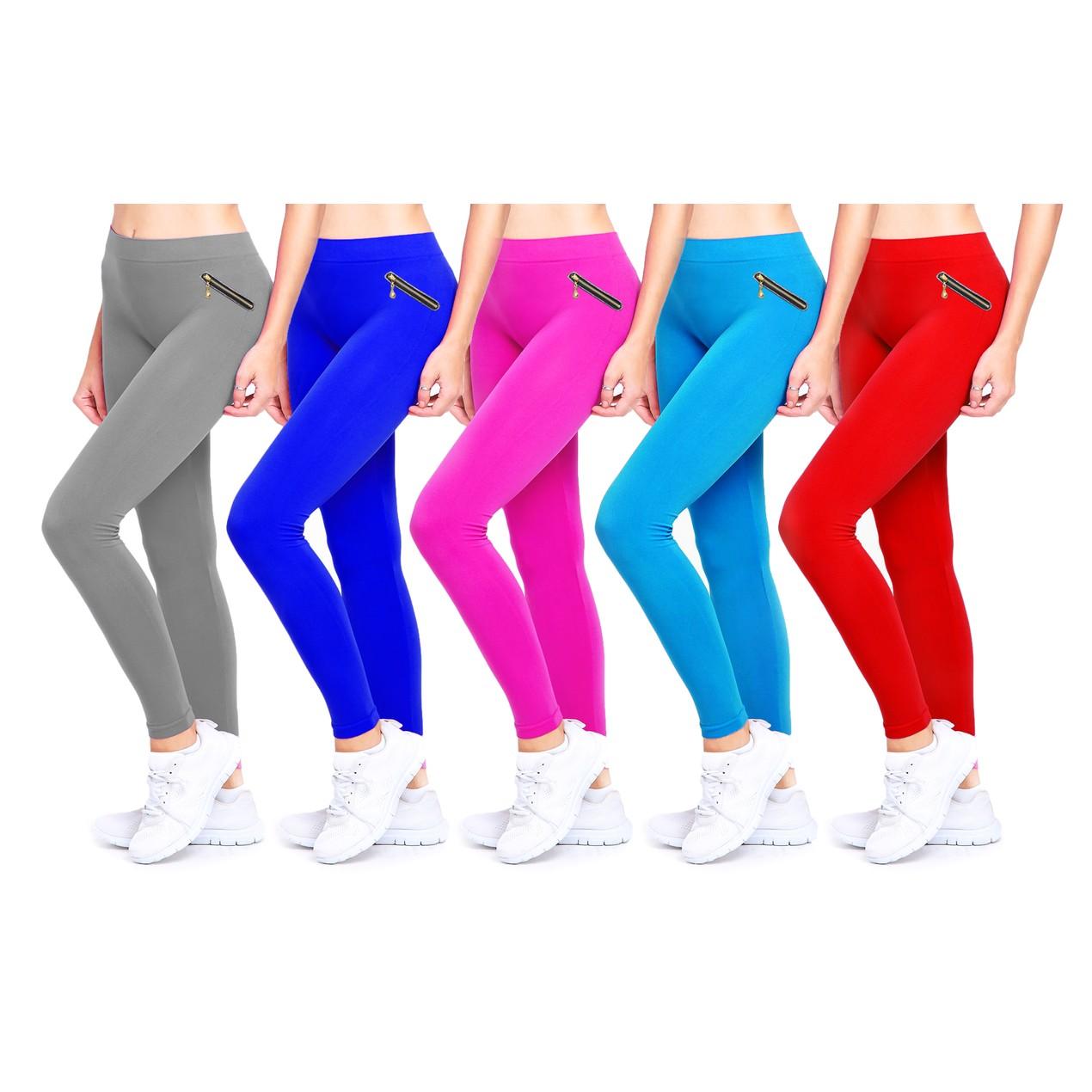 a370fe0feba 2-Pack Women s Ultra-Soft Fleece-Lined Fashion Leggings - Tanga