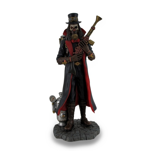 Hand Painted Steampunk Grim Reaper Fantasy Statue Statues