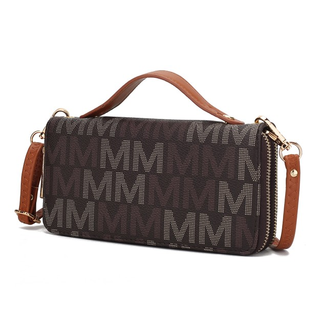 MKF Collection Jordyn M Signature Wallet with Removable Crossbody Strap