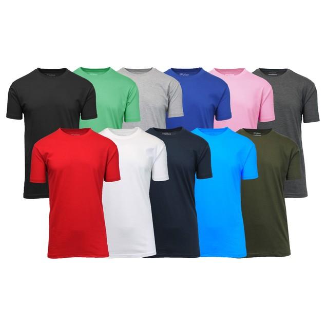 Men's 5-Pack Assorted Short Sleeve Crew Neck Tee (S-5XL)