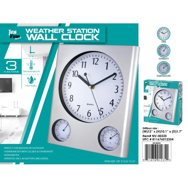 Weather Station Wall Clock