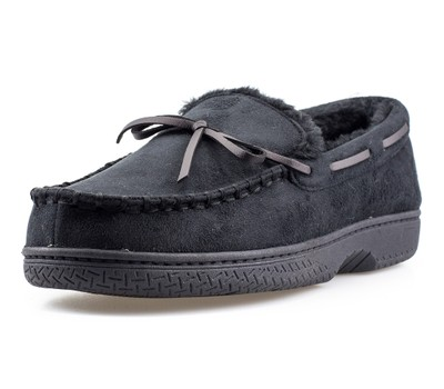 Mens Memory Foam Durable Comfortable Slip On Moccasin Slippers Was: $49.99 Now: $18.99.