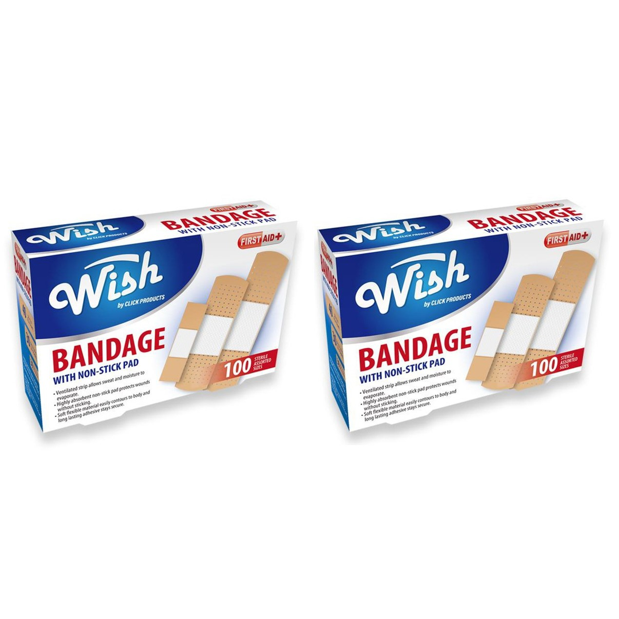 200-Count Flexible Bandages for Wound Care & First Aid