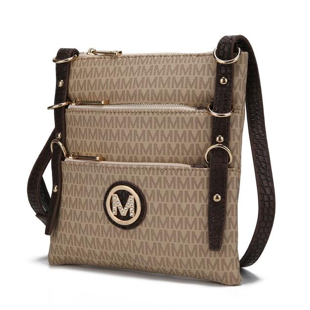 Mia K. Collection Venna Signature Messenger Crossbody Bag