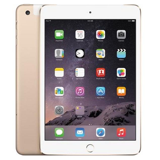 Apple iPad Mini 3 MH3G2LL/A Unlocked 4G (16GB, Wi-Fi + Cellular, Gold)