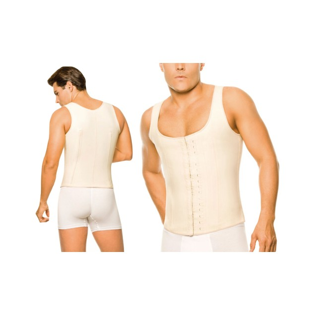 Mens Waistcoat High-Compression Body Shaper in Regular and Plus Sizes