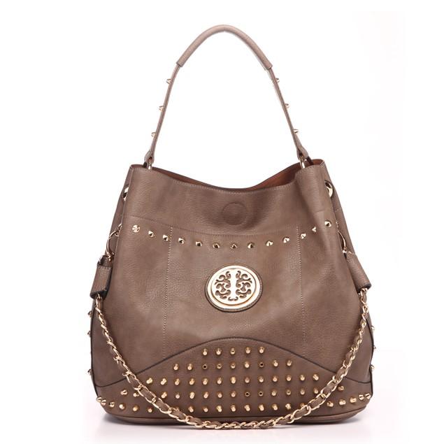 MKF Collection Studded Handbag with Removable Strap