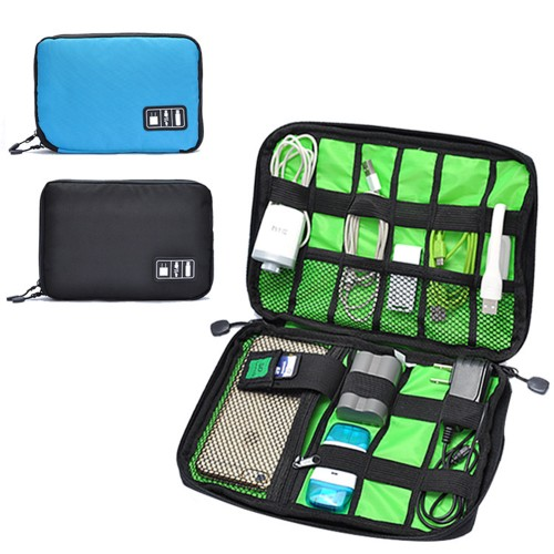 Waterproof Portable Travel Electronic Organizer for Phone Charger, Cables, USB, SD Card,Power Bank