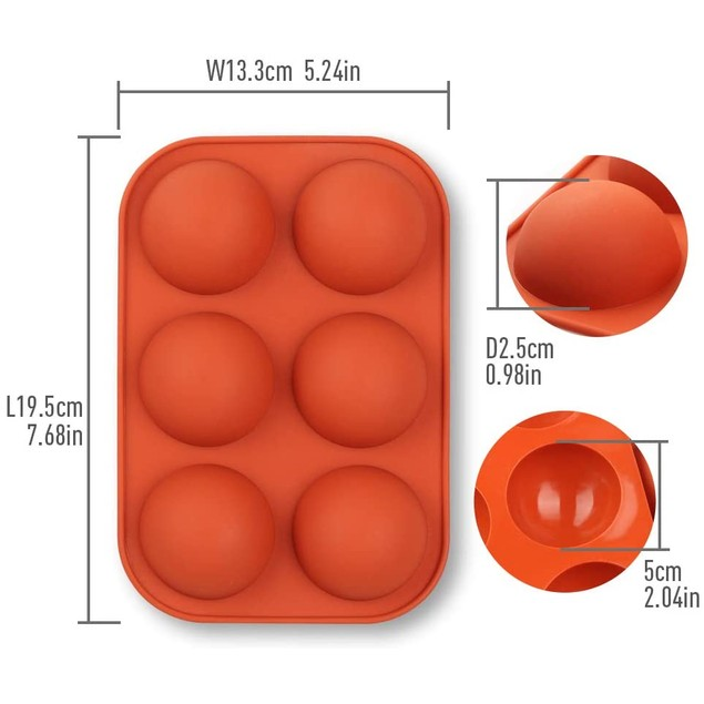 3-Pack: Chocolate Bomb Semi-Sphere Silicone Mold