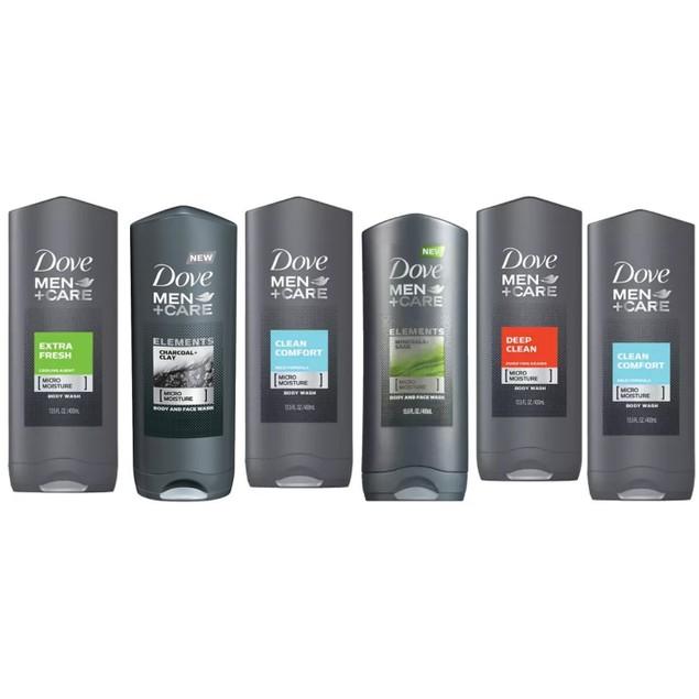 6-Pack Dove Men Shower Gel 400ml (Assorted Scents)