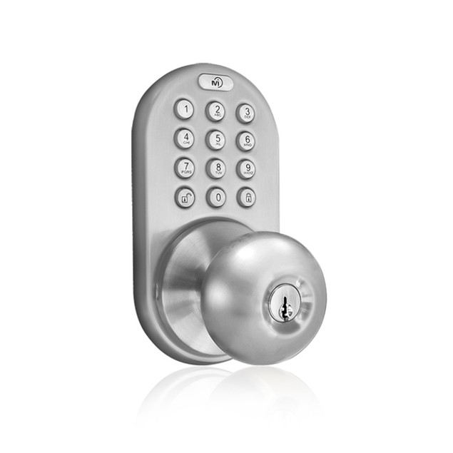 MiLocks® Keyless Entry Keypad Knob Door Lock Satin Nickel (TKK-02SN)