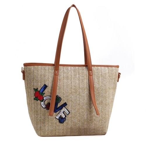 MKF Collection Hampton Woven Beach Tote Bag by Mia K.