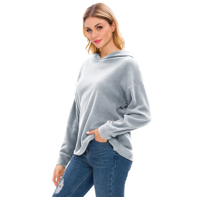 Lilly Posh Long Sleeve Solid High Collar Hoodie