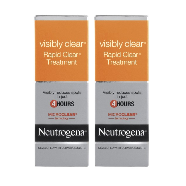 2-Pack Neutrogena Visibly Clear Rapid Clear Treatment, 0.5 Oz