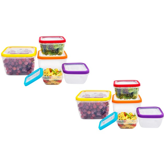 Vented Food Storage Container Set (10 or 20 Piece)