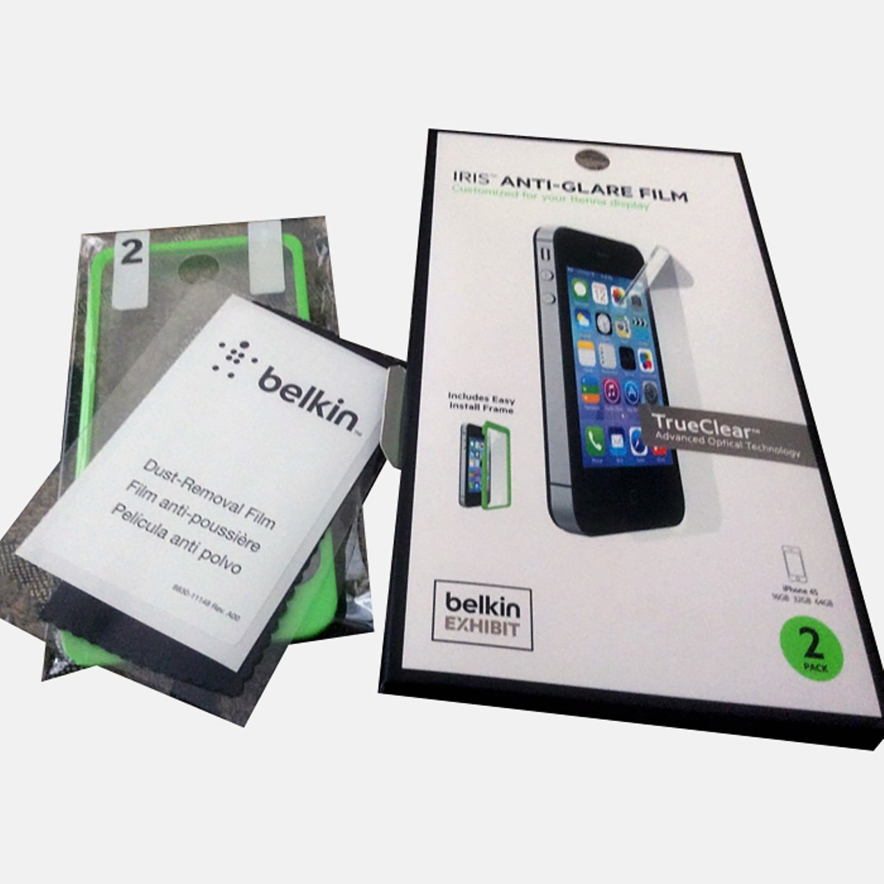 2 Pack Belkin Anti Glare Film Screen Protector Tanga