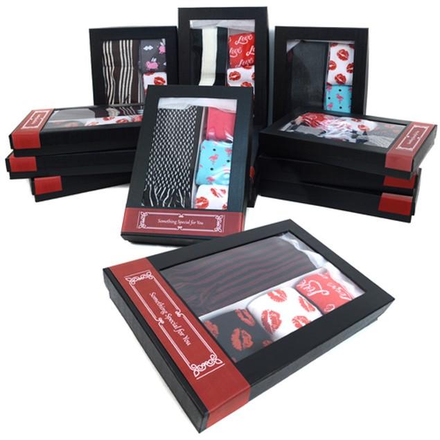 Men's Valentine Day Scarf & Socks Gift Set