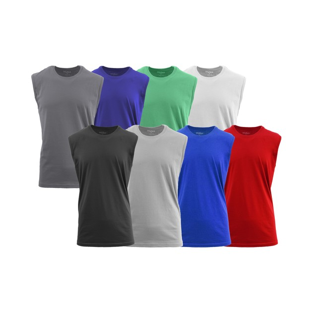 5-Pack Men's Assorted Muscle Tank Tee (M-5XL)