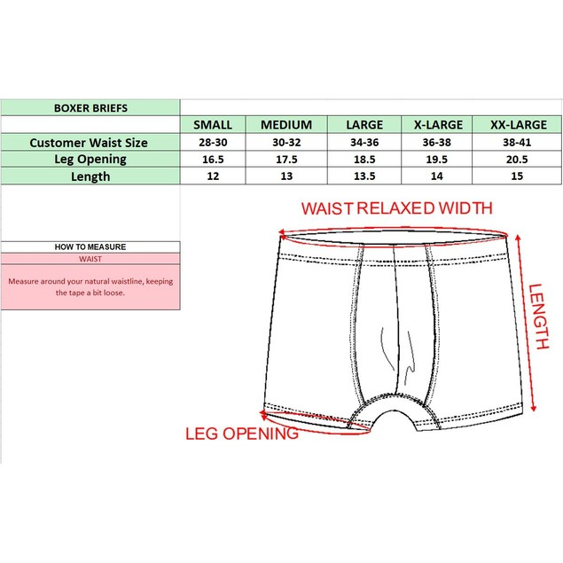 Men's Tagless Boxer Briefs - Multiple Pack Sizes