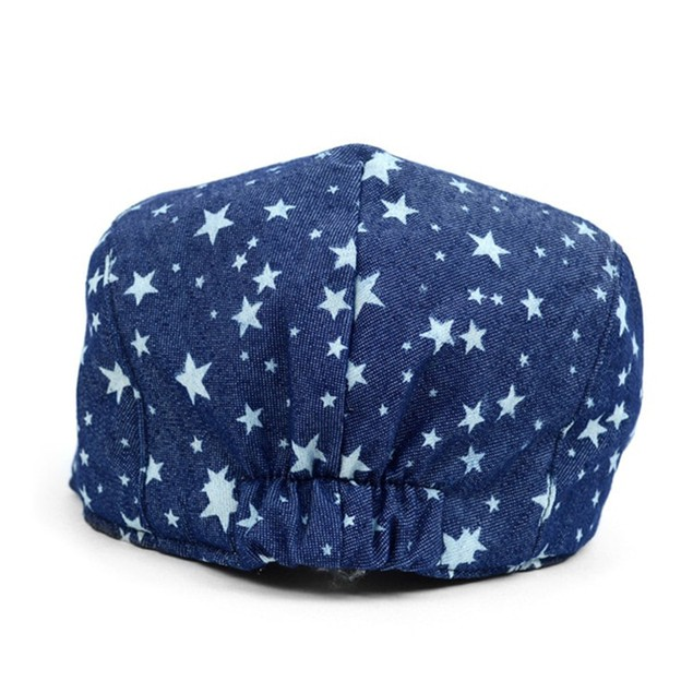 Spring/Summer Denim Star Print Casual Ivy Hat