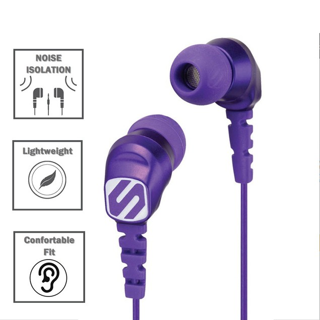 Scosche Noise Isolation Earbuds-Lightweight-Angled 3.5MM Connector-HP200PU
