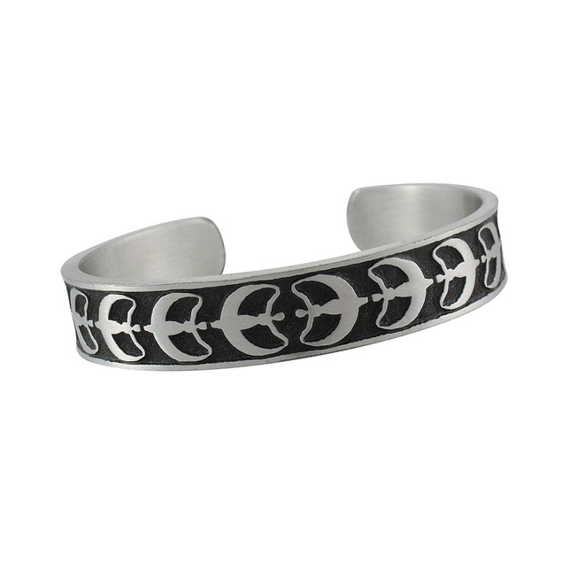 Crescent Moon Goddess Pewter Cuff Bracelet Womens Cuff Bracelets