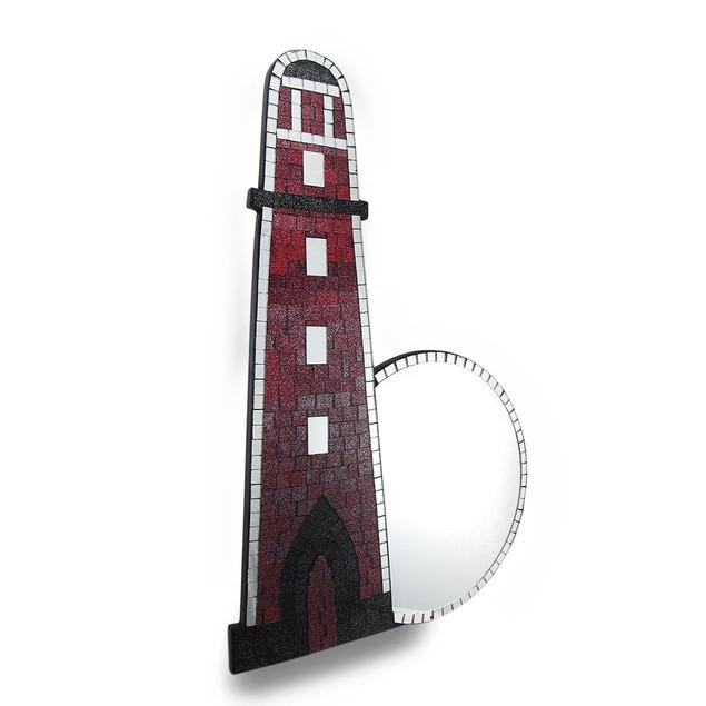 Beautiful Mosaic Glass Lighthouse Wall Mirror Wall Mounted Mirrors