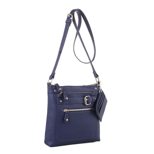 MKF Collection Aisha Multi Pockets Crossbody Bag with Matching Card Holder