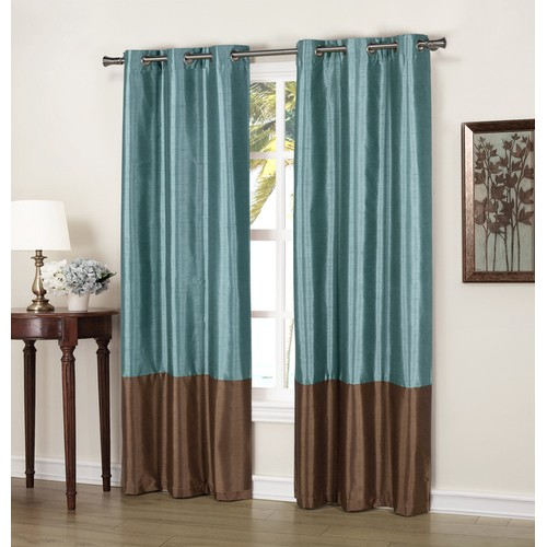 Striped Thermal Insulated Blackout Window Curtain - Set of 2