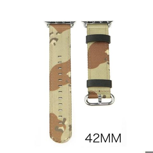 iPM Leather & Nylon Band with Buckle for Apple Watch