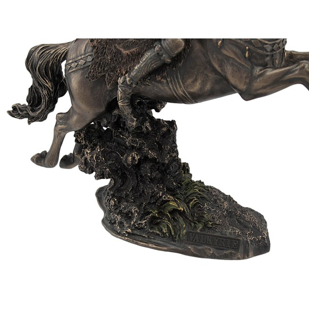 Norse Valkyrie On Flying Horse Statue Valhalla Statues