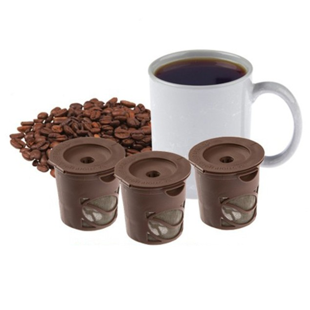3-Pack Single Serve Coffee Filters for Keurig Brewers