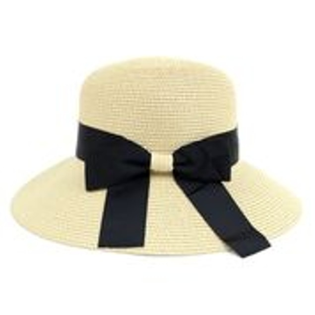 Women's Floppy Sun Hat with Ribbon Bow-knot