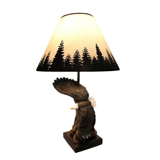 Soaring Bald Eagle Sculptural Table Lamp Table Lamps