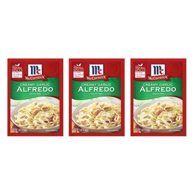 McCormick Creamy Garlic Alfredo Sacue Mix 3 Packet Pack