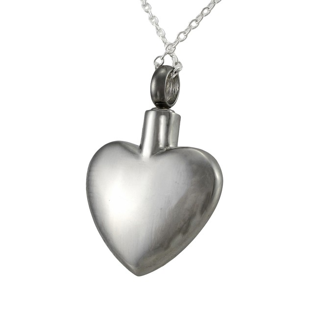 Stainless Steel Passion Heart Love Vial Keepsake Pendant Necklaces