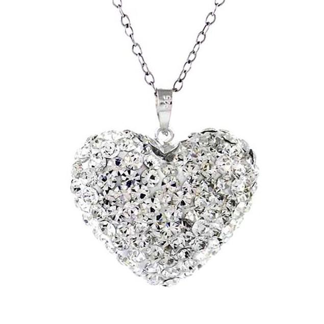 Crystal Bubble Heart Pendant
