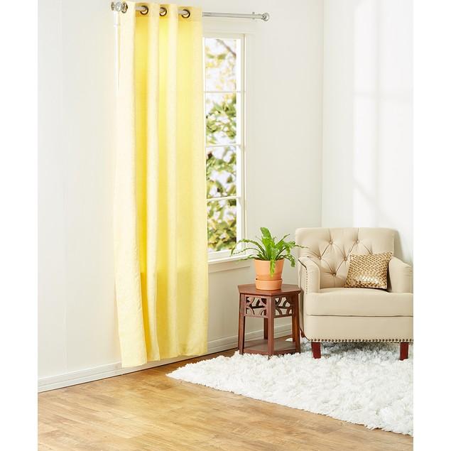 Ruthy's Textile 2-Piece Jacquard Grommet Window Panel